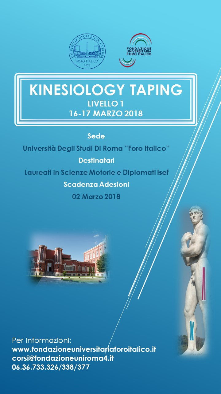 KINESIOLOGY TAPING LIVELLO 1